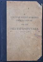 A Magyar Szent Korona országainak 1928. évi helységnévtára