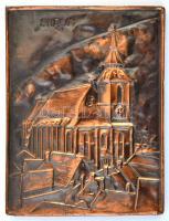 Brassó (Brasov) fém falikép, 19×14 cm