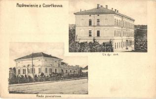 Chortkiv, Czortków; Rada powiatowa, C. k. dyr. skrb. / County council