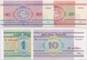 Fehéroroszország 1992. 25R + 50R + 2000. 1R + 10R T:I Belarus 1992. 25 Rublei + 50 Rublei + 2000. 1 Ruble + 10 Rublei C:UNC  Krause 6; 7; 21; 23