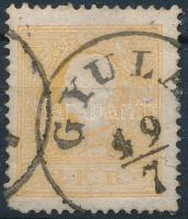 1858 2kr narancs GYULA (rövid sarokfog / short corner perf)