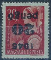 1945 Kisegítő (II.) 20P fordított felülnyomással (14.000)