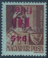 1945 Kisegítő 10f/4f fordított felülnyomással
