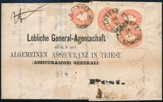 1861 Levél 4 x 5kr LOSONCZ - Pest