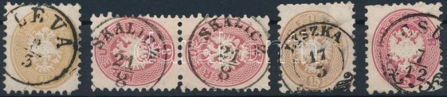 1864 5 db bélyeg szép bélyegzéssel
