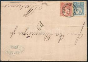 1872 Levél Réznyomat 5kr + 10kr bérmentesítéssel PEST DÉLKEL. VASP. - Palermo