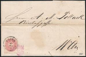 1866 5kr levélen BAJNA