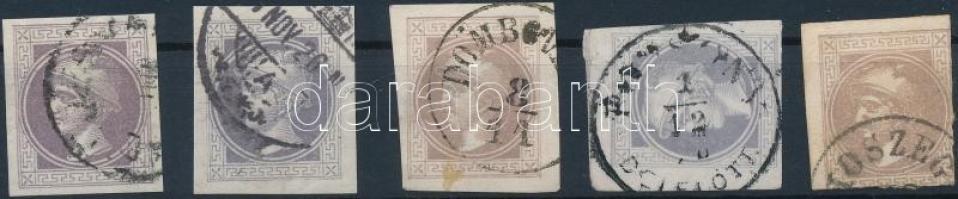1867 5 Hírlapbélyeg szép magyar érkezési bélyegzésekkel