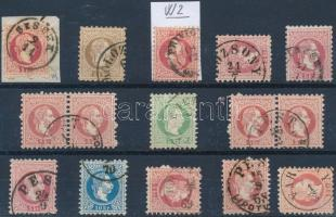 1867 15 db vízjeles bélyeg / 15 stamps with watermark