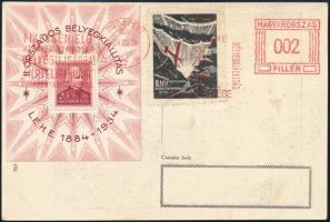 1934 LEHE blokk címzetlen képeslapon