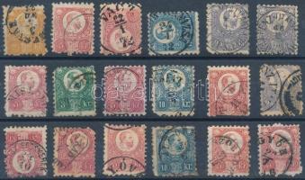 1871 18 db vegyes minőségű Réznyomat bélyeg (~33.000)