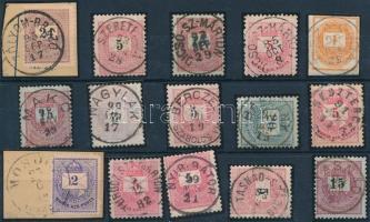15 db krajcáros bélyeg szép/olvasható bélyegzésekkel