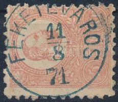 1871 Kőnyomat 5kr kék FEKETEVÁROS (Gudlin 600 p)