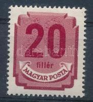 1950 Forint filléres portó 20f az értékszám kettős nyomatával