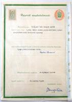 1938-1948 2 db Ügyvédi meghatalmazás, 50 és 10 filléres valamint 1 pengős és 20 filléres benyomott illetékbélyegekkel
