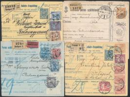 1910/1917 8 db szállítólevél vegyes minőségben