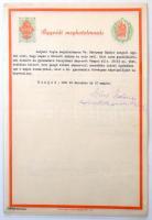 1939-1944 3 db Ügyvédi meghatalmazás 1.50 pengős és 30 filléres, valamint 2 db 2 pengős és 40 filléres benyomott, 1 és 1.30 pengős ráragasztott illetékbélyeggel
