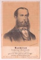cca 1860 Habsburg Miksa(1832-1867) főherceg, mexikói császár, litho kép, 11x7 cm