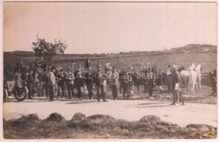 1910 Ferenc József császár hadgyakorlaton, fotólap, 9x14 cm / Franz Joseph I of Austria, military exercise, photocard, 9x14 cm