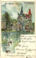 1899 Budapest XIV. Városliget, Back & Schmitt litho s: Rosenberger (Rb)