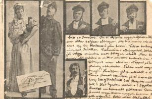 Budapest VI. Somossy Mulató, Albrecht Ferenc igazgató, jelenetek az előadásokból (b)