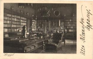 Lengyel, Gróf Apponyi kastély, könyvtár, belső (ázott / wet damage)