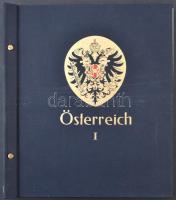 1850-1935 Ausztria, K.u.K. Feldpost, Bosznia albumlapok, sötétkék csavaros Österreich I. borítóval