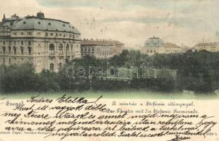 Szeged, Színház a Stefánia sétánnyal