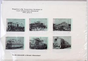 1972 Ferencváros - Soroksári út vasútvonal villamosítása 2 levélzáró kisív