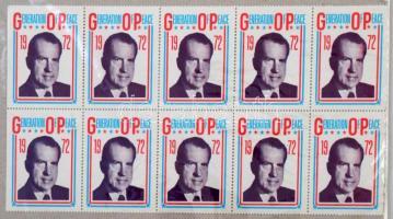 1972 Generation of Peace Nixon levélzáró kisív