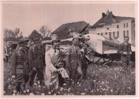 cca 1935 Göbbels nagyméretű cigaretta gyűjtőkép. Propaganda / Large nazi propaganda cigarette collectors card 12x17 cm