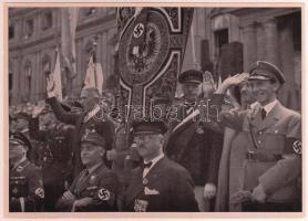 1933 Stuttgart Turnfest nagyméretű cigaretta gyűjtőkép. Propaganda / Large nazi propaganda cigarette collectors card 12x17 cm