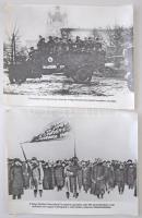 A Nagy Októberi Szocialista Forradalom emlékei, 5 db fotó, feliratozva, 24x30 cm.