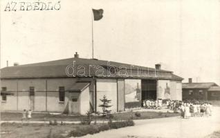1931 Koszalin, Köslin; Nest Erholungsheim der Stadt Berlin / pihenőház ebédlője / rest house, cantine, photo (EK)