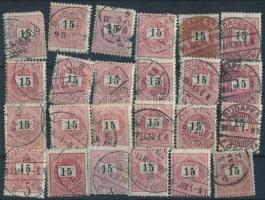 Több mint 400 Krajcáros + 90 Turul bélyeg berakó lapokon közte szép bélyegzések, összefüggések