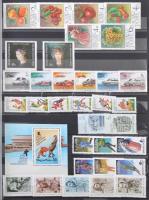 1960-1990 Gyűjtemény sorokkal, blokkokkal 16 lapos A4-es berakóban