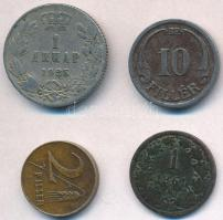 Vegyes: 1861B 1kr Cu + 1941. 10f Fe + 1946. 2f tombak + Szerb-Horvát-Szlovén Királyság 1925. 1D Ni-Br T:2,2-,3 Mixed: Hungary 1861B 1 Krajczar Cu + 1941. 10 Filler Fe + 1946. 2 Filler tombac + Kingdom of the Serbs, Croats and Slovenes 1925. 1 Dinar C:XF,VF,F