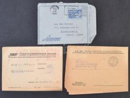 Levéltétel hagyatékból, magyar és külföldi levelek, táviratok, képeslapok, főleg 50-es évek és régebbi