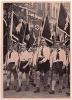 1933 Hitlerjugend nagyméretű cigaretta gyűjtőkép. Propaganda / Large nazi propaganda cigarette collectors card 12x17 cm