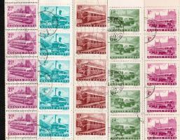 1963 Közlekedés (I) sor 5 klf értéke 1 Ft, 1,40Ft-2,50Ft hajtott teljes ívekben (10.000)