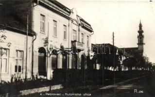 Petrőc, Petrovec; Főutca, Evangélikus templom / Kulpinska ulice / main street, Lutheran church. Foto A. Labath