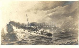 Torpedoboote in See / K.u.K. Kriegsmarine Torpedo boat. Verlag F. W. Schrinner