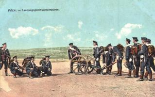 Pola, Landungsgeschützexerzieren; R. Marincovich / K.u.K. navy, landing practice