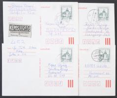200 db futott díjjegyes levelezőlap az 1999-es évből kerek, olvasható helységbélyegzésekkel