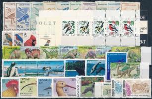 1991-1994 Állat motívum 35 db klf bélyeg, közte teljes sorok, ívszéli és ívsarki értékek + bélyegfüzet