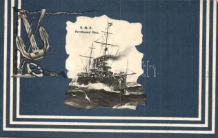 SMS Erzherzog Ferdinand Max az Osztrák-Magyar Monarchia Erzherzog-osztályú pre-dreadnought csatahajója, G. Fano / K.u.K. Kriegsmarine, anchor