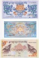 Bhután 1986. 1N + 2006. 1N + 5N T:I Bhutan 1986. 1 Ngultrum + 2006. 1 Ngultrum + 5 Ngultrum C:UNC Krause 12; 27; 28