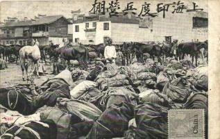 Chinese folklore, merchants at the market (b)