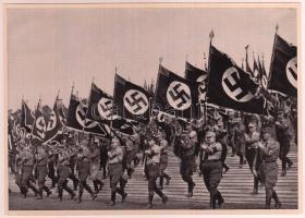 1933 Reichsparteitag nagyméretű cigaretta gyűjtőkép. Propaganda / Large nazi propaganda cigarette collectors card 12x17 cm