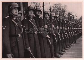 1935 München nagyméretű cigaretta gyűjtőkép. Náci propaganda / Large nazi propaganda cigarette collectors card 12x17 cm